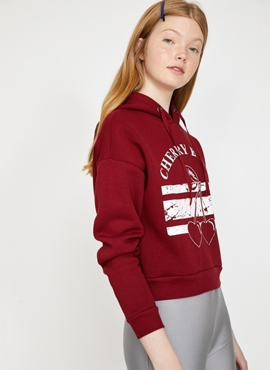 Koton Koton Bordo Sweatshirt Bordo
